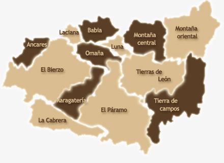 Mapa de la Provincia de Leon España Mapa de la Provincia de León